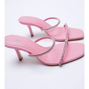 Zara sparkly heeled sandals